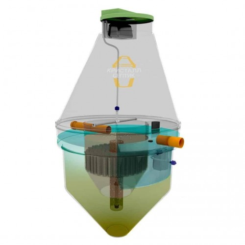 Комплектация септика Кристалл-5 на 5 чел.